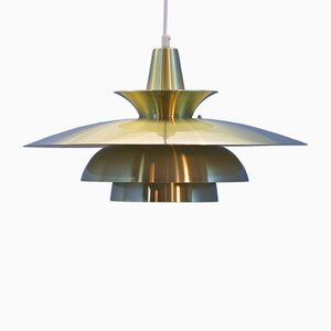 Large Danish Brass Pendant, 1960s
