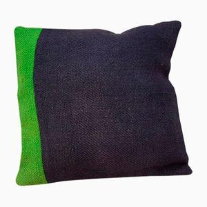 Grüner Kelim Kissenbezug aus Wolle von Vintage Pillow Store Contemporary