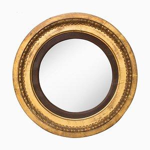 Gewölbter Spiegel aus Silberglas, 1800er