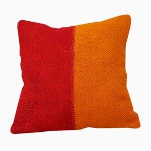 Housse de Coussin Kilim Laine Rouge et Orange de Vintage Pillow Store Contemporary