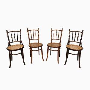 Chaises de Salle à Manger Vintage de Fischel, 1920s, Set de 4