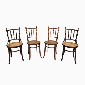 Vintage Dining Chairs from Fischel, 1920s, Set of 4
