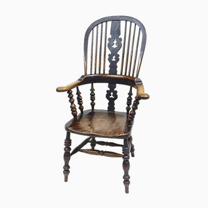 Large Antique Yorkshire Windsor Armchair