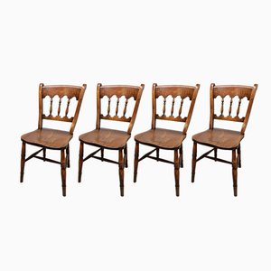 Antique Windsor Kitchen Chairs, Set of 4
