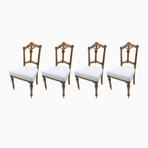 Antique Gothic Revival Dining Chairs, Set of 4
