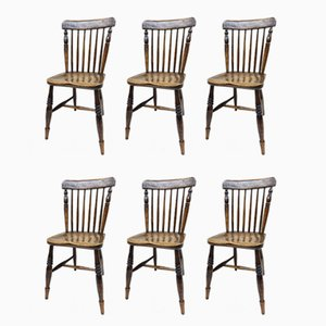 Antique Kitchen Chairs, Set of 6