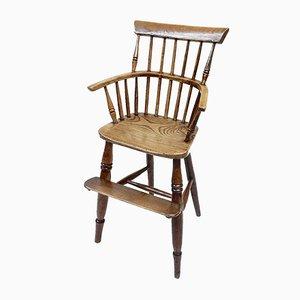 Chaise Haute Windsor pour Enfant Antique