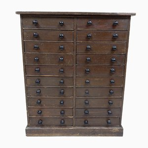 Antique Pine 20-Drawer Chest