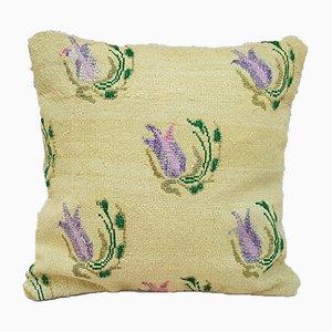 Handgearbeiteter gemusterter Kelim Kissenbezug von Vintage Pillow Store Contemporary