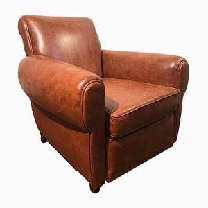 Leather Club Chair, 1930s