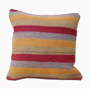 Housse de Coussin Kilim Artisanale Rayée de Vintage Pillow Store Contemporary