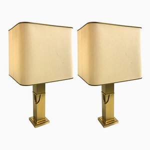 Brass Table Lamps, 1970s, Set of 2