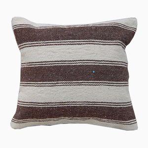 Housse de Coussin Kilim Tissé Rayé de Vintage Pillow Store Contemporary, Turquie