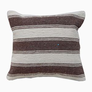 Turkish Woven Striped Kilim Pillow Cover from Vintage Pillow Store Contemporary