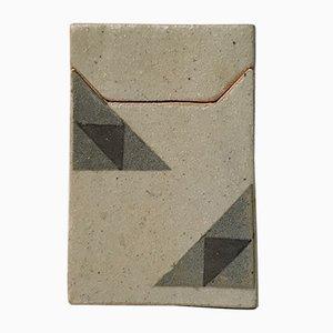 Caja danesa geométrica de gres de Sten Børsting, años 90