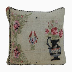 Funda de cojín grande con tapiz de Aubusson de Vintage Pillow Store Contemporary