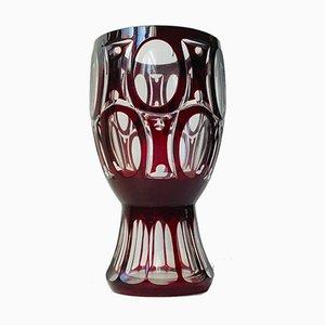 Vaso Art Deco in cristallo, anni '30