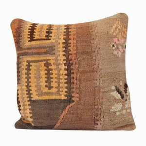Turkish Bohemian Handwoven Kilim Pillow Cover from Vintage Pillow Store Contemporary