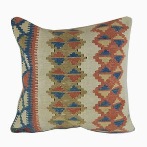 Turkish Woven Kilim Throw Pillow Cover from Vintage Pillow Store Contemporary