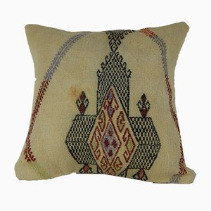 Grand Coussin de Coussin Kilim en Laine de Vintage Pillow Store Contemporary