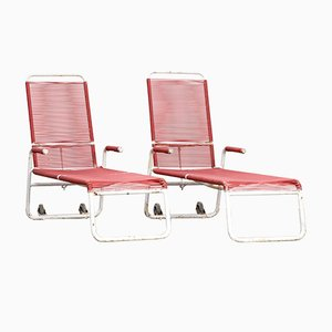 Garden Chaise Lounge Chairs, 1970s, Set of 2