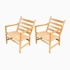 CH44 Armchairs by Hans Wegner for Carl Hansen & Son, Set of 2