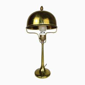 Art Deco Tischlampe aus Messing, 1910er