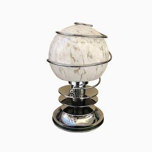 Lampada da tavolo sferica Mid-Century di Carlo Nason per Mazzega, Italia, anni '70