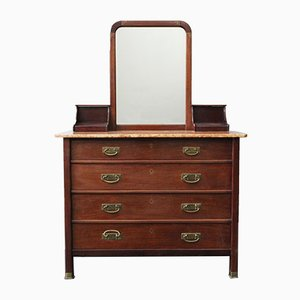 Antique Dresser with Mirror by Alberto Issel, 1910s