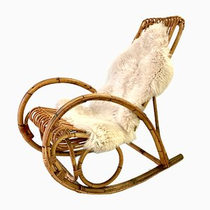 Wicker Rocking Chair, 1960s