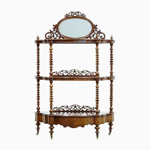 Antique Victorian Walnut Shelf
