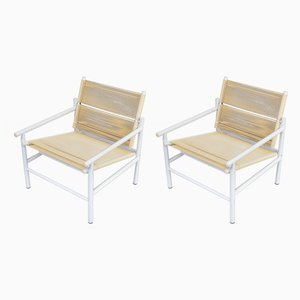 Vintage Fly Line Spaghetti Armchairs by Giandomenico Belotti for CMP-Padova, Set of 2