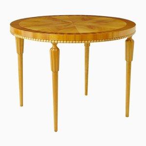 Tavolino da caffè Art Deco in betulla