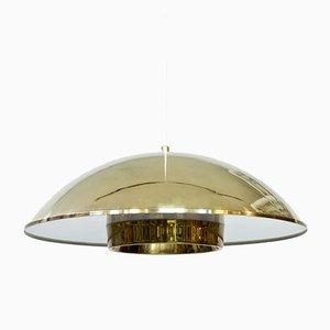 Lámpara colgante sueca de latón y acrílico de Bergboms, años 60