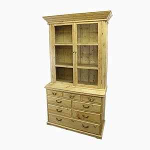 Antique Pine Cabinet on Chest of Drawers, 1910s