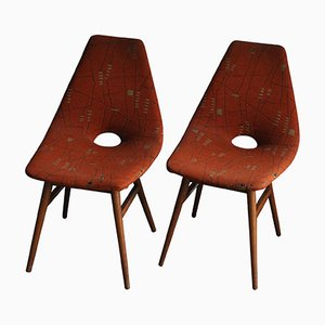 Hungarian Erika Chairs by Judit Burián for SZKIV, 1959, Set of 2