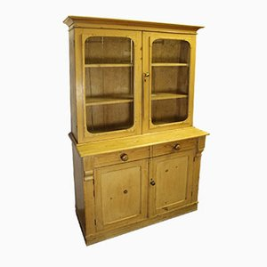 Antique 2-Door Pine Chiffoniere Cabinet, 1910s