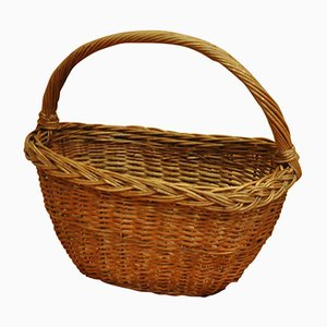 Vintage Wicker Basket, 1950s