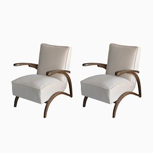 Lounge Chairs by Jindrich Halabala, 1930s, Set of 2