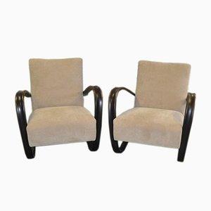 H 269 Lounge Chairs by Jindrich Halabala, 1930s, Set of 2