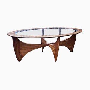 Tavolino da caffè ovale Astro in teak e vetro di Victor Wilkins per G-Plan, anni '60