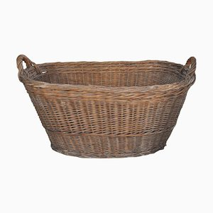 Rustic Wood Basket, 1940s