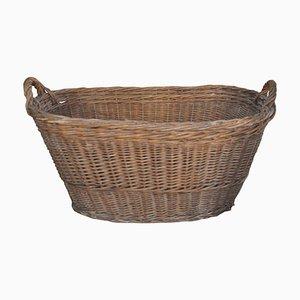 Rustic Wood Basket, 1940s