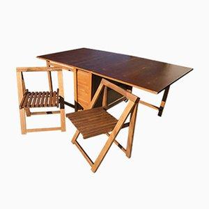 Table de Salle à Manger Style Lingel avec 2 Chaises, Hongrie, 1960s