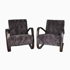 Model H 269 Lounge Chairs by Jindrich Halabala, 1930s, Set of 2