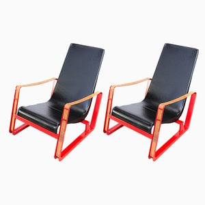 Cité Armchair by Jean Prouvé for Vitra, 1990s, Set of 2