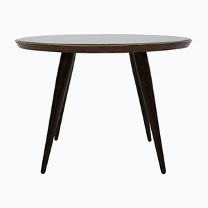 Italian Solid Wood and Glass Side Table by Gio Ponti, 1930s
