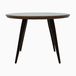 Tavolino in legno massiccio e vetro di Gio Ponti, Italia, anni '30