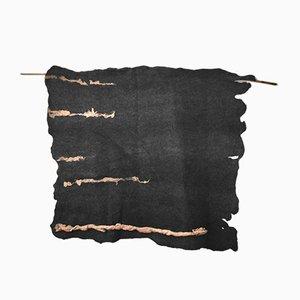 Dunkelgrauer Wandteppich von Margaret van Bekkum