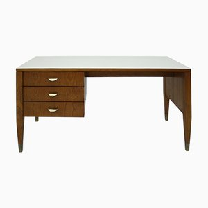 Mid-Century Italian Walnut Desk by Gio Ponti for ISA Bergamo